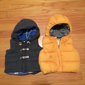 NWOT Bundle 2 Baby Gap Puffer Vests size 0-6months